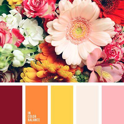 бледно-розовый, бордовый, винный, красно-коричневый, красно-оранжевый, красный, лимонный цвет, монохромная желтая цветовая палитра, оранжевый, розово-коричневый, розовый, рыже-коричневый, светло-желтый, светло-розовый, солнечный желтый,