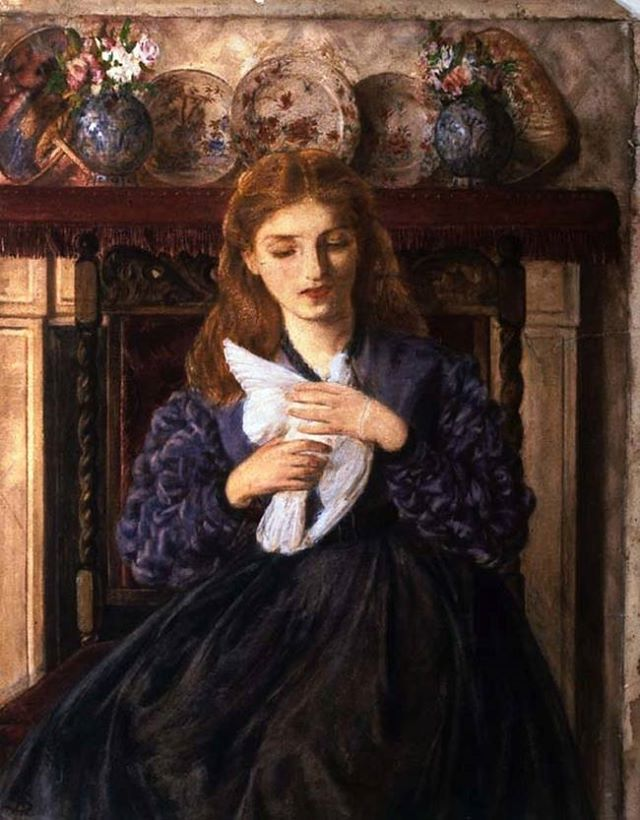 Rebecca Solomon (English painter) 1832 - 1886 The Wounded Dove, 1866