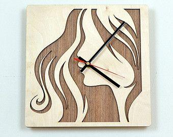 Wooden Wall Clocks   12'' Wooden Wall Clock / Ho me Decor / Housewares / Clock ...
