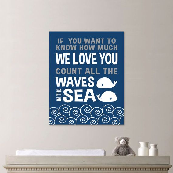 Baby Boy Whale Quote Nursery Print  Make a by RhondavousDesigns2, $10.00