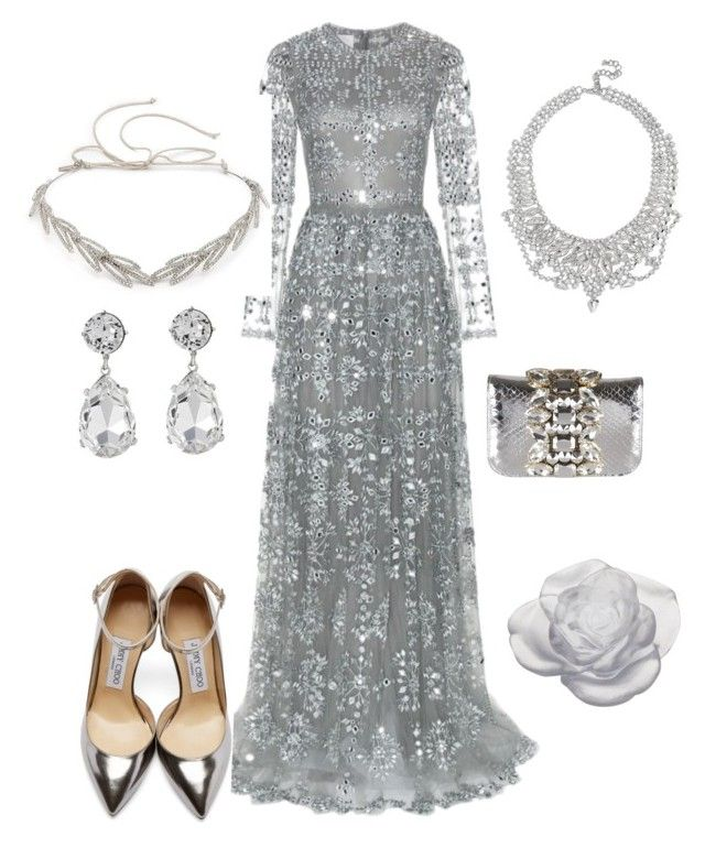 Untitled #49 by evelin-pap on Polyvore featuring polyvore, moda, style, Valentino, Jimmy Choo, GEDEBE, GUESS, Kenneth Jay Lane, Jennifer Behr, Daum, fashion and clothing