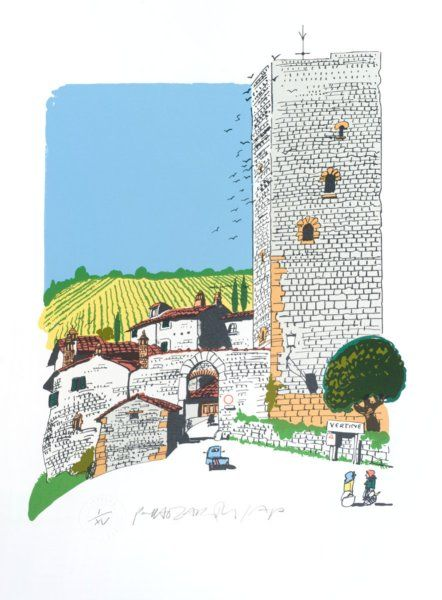 Chianti village (Vertine) by Paul Hogarth