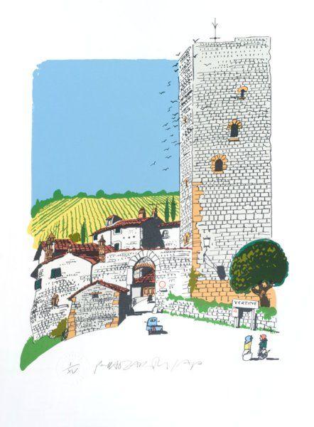 Chianti village (Vertine) by Paul Hogarth