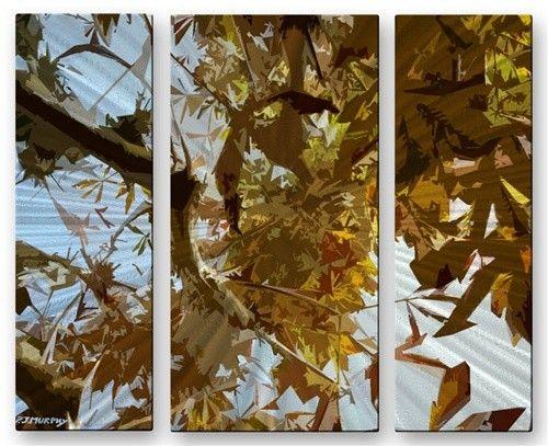 'Leaves' by Patrick Murphy 3 Piece Graphic Art Plaque Set