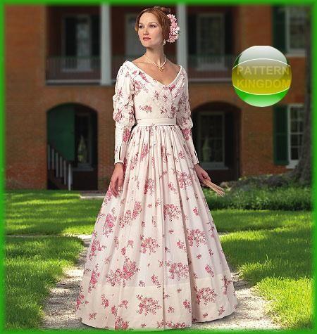 Butterick 5832 Mid 19th Century Victorian Dress Patterns