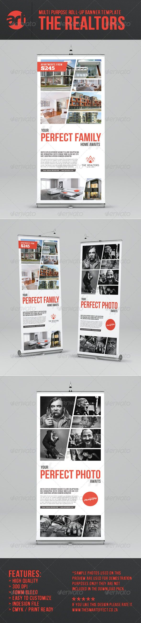 The Realtors Multi-Purpose Roll-up Banner Template