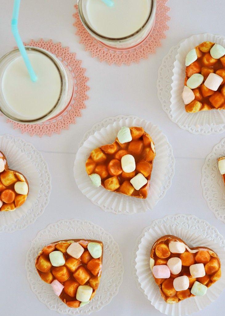 Butterscotch Peanut Butter Marshmallow Hearts