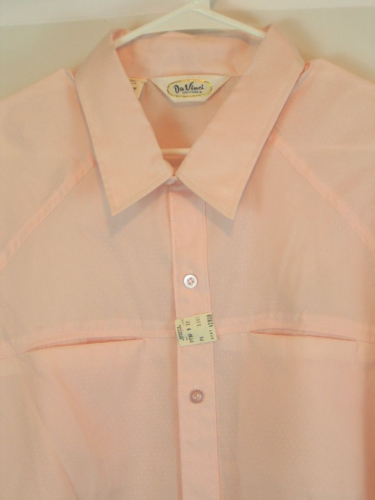 1960's Men's Shirt by Da VInci California Pink Short Sleeve Button Front sz 3 X Dead Stock Mad Men Rockabilly Charlie Sheen new with tags. by PinkyLaRoux on Etsy