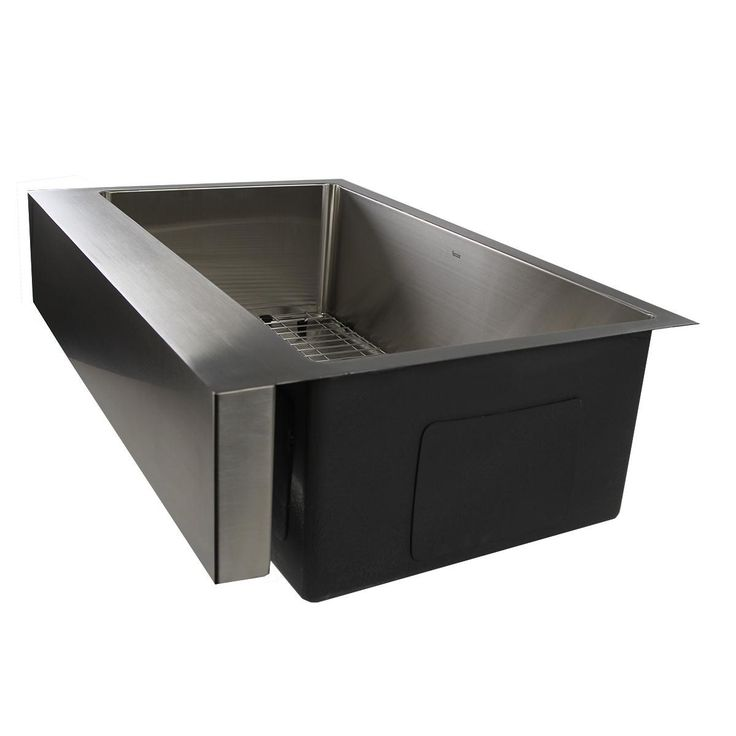 nantucket sinks ezapron33 patented design pro single bowl undermount stainless steel kitchen sink in brushed satin. Interior Design Ideas. Home Design Ideas