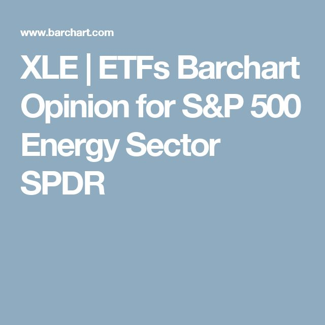 XLE | ETFs Barchart Opinion for S&P 500 Energy Sector SPDR