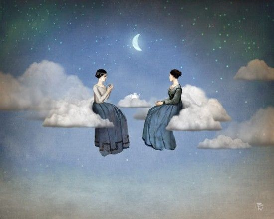 How lovely it would be to drink tea on clouds, among the stars by the light of the moon | Image by Christian Schloe