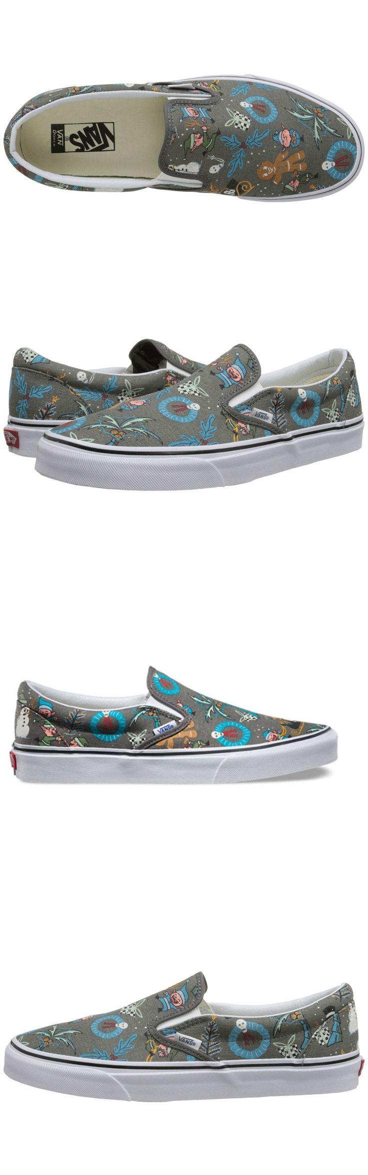 Other Skateboarding Clothing 159079: Vans Classic Slip-On Kids Shoes Van Doren Holiday Pewter Women S Size 5 Kids 3.5 -> BUY IT NOW ONLY: $30.52 on eBay!