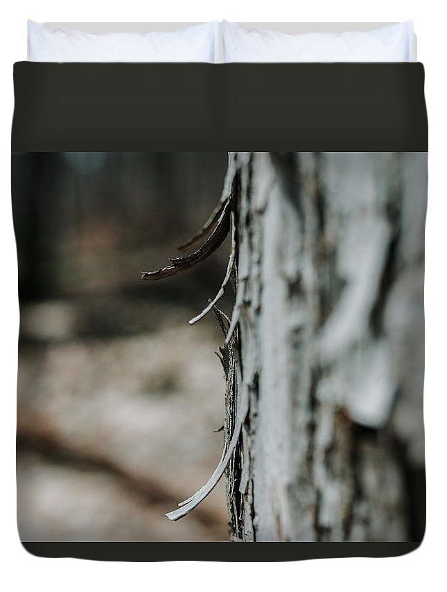 """Bark Bokeh"" Nature photography on a Duvet Cover by Valerie Rosen Photography. Earth tones for your bedroom decor."