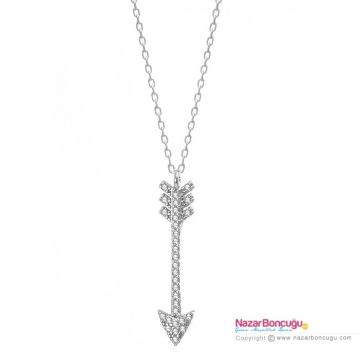 Gümüş Kolye Modelleri : Gümüş Ok Kolye