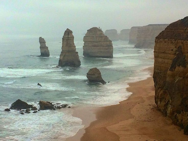 Visiting the 12 Apostles along the Great Ocean Road. Despite the name there's only 8 left thanks to Mother Nature. Fortunate to capture this image before the bad weather starts settling in!! #TheGreatOceanRoad #Australia #Scenic #Travel #Tourists #LadTrip #12Apostles #LowTide #TheresAStormComing @paulie_reags @dazza101 @lukas_lane by slatham94 http://ift.tt/1ijk11S