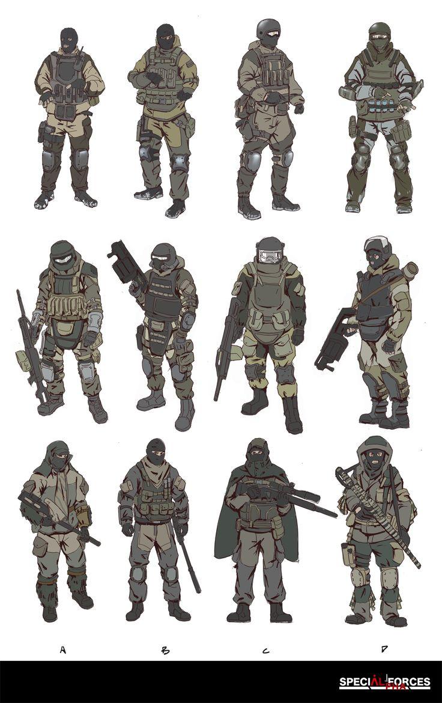 ArtStation - Russia Soldier Design Sketch, HanG Wang