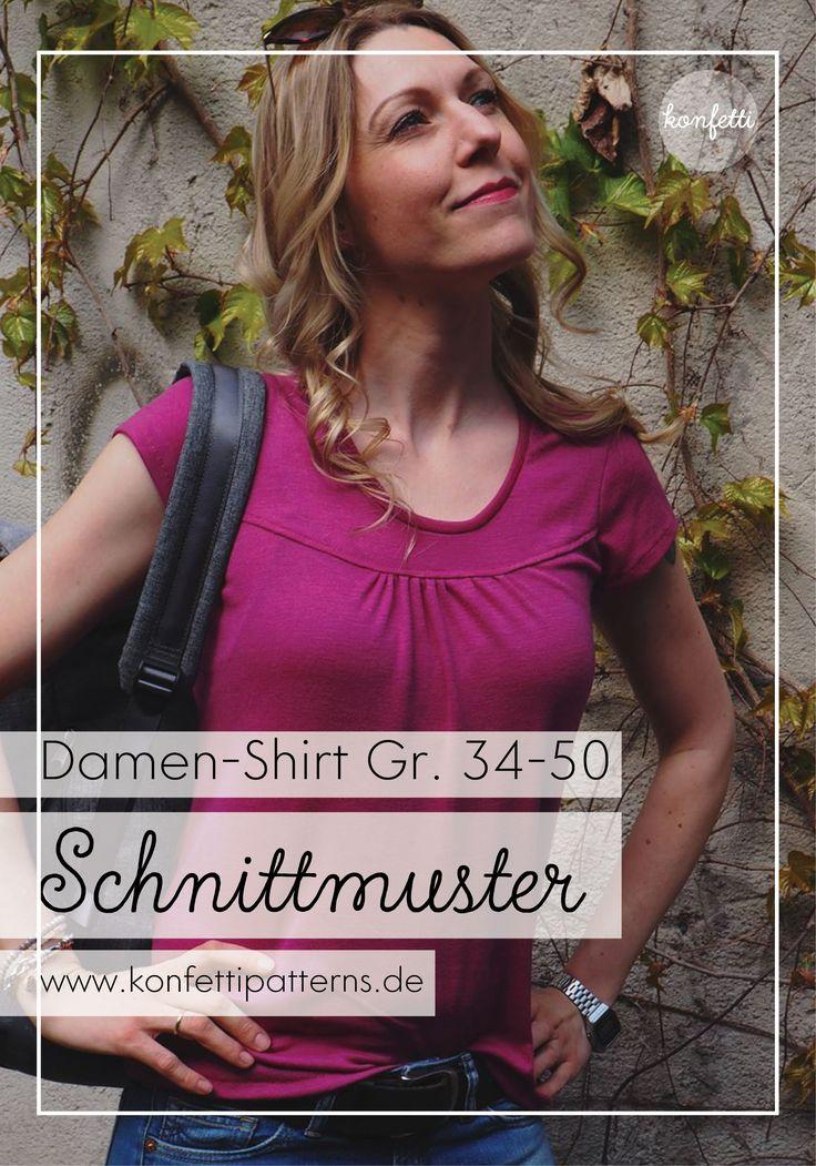 Das Lady-Shirt von Konfetti Patterns ist ein absoluter Tipp für das Basic Dress …