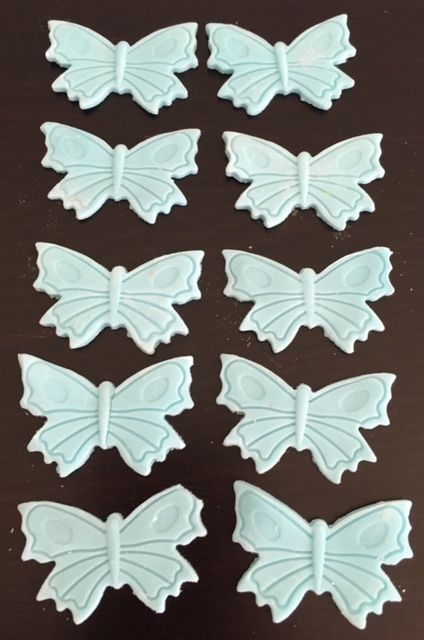 30 Edible Fondant Butterflies Cake or Cupcake Toppers Birthday Party Wedding