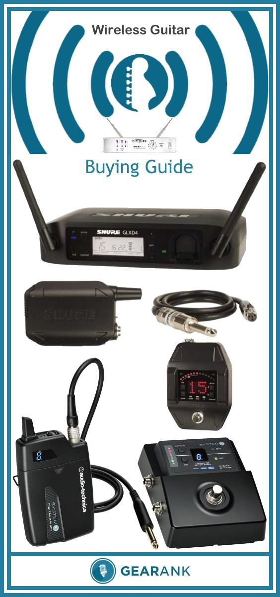 The Best Wireless Guitar Systems.  This guide includes a recommended list of the highest rated wireless systems for guitar and bass along with advice on what you need to know before buying one.