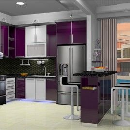78 best images about interior design kitchen set on for Harga kitchen set aluminium minimalis