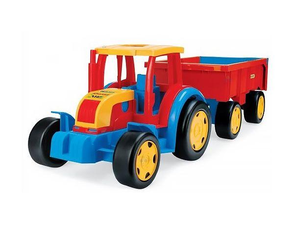 Gigant Truck - Traktor z Przyczepą od firmy WADER  #zabawki #supermisiopl