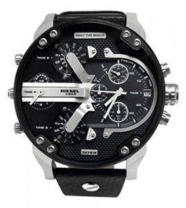 #Diesel – DZ7313 – #Montre #Homme – Quartz Chronographe – Bracelet Cuir Noir