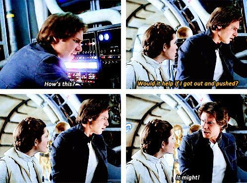 This is why people loved Han and Leia-- the everyday sass