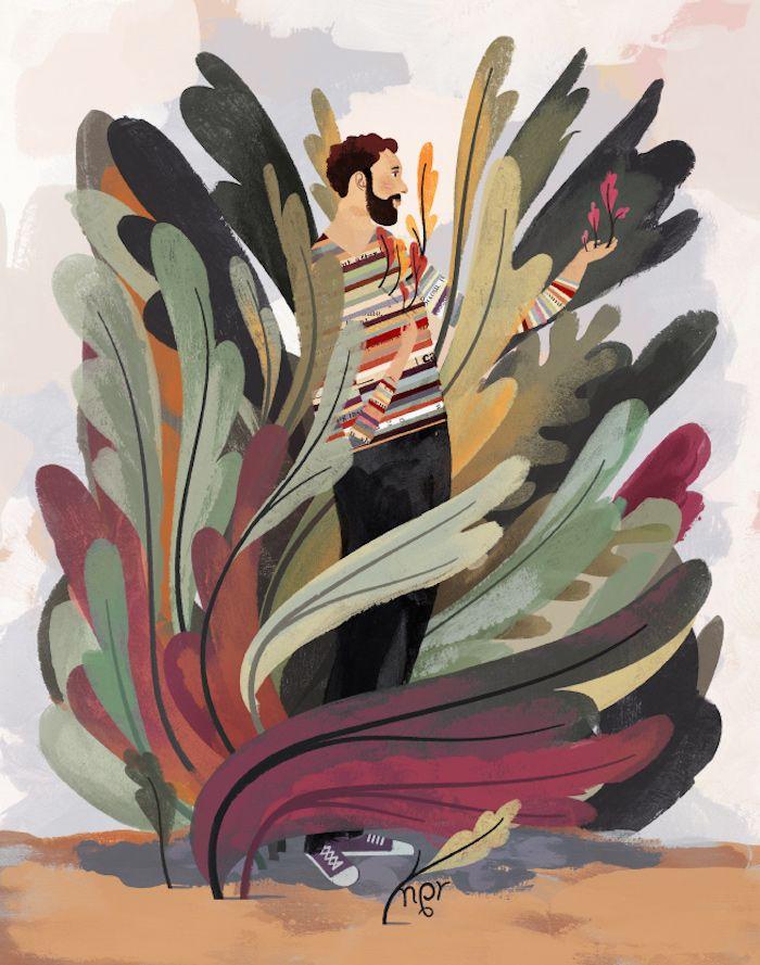 Keith Negley, man, boy, illustration, colours