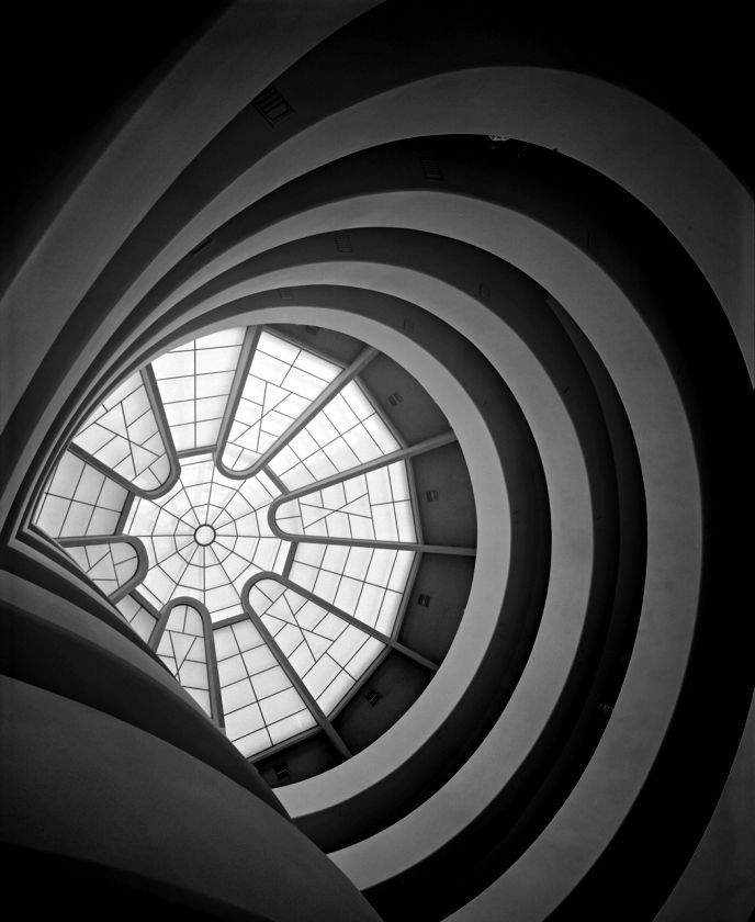 #Inside view of #Guggenheim #museum designed by Frank Lloyd #Wright, #NewYork, ca. 1959