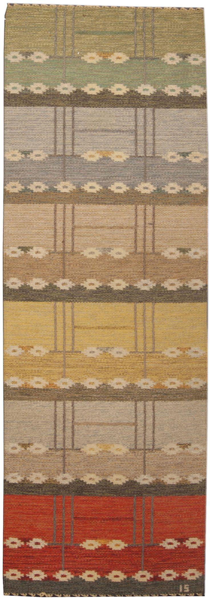 Scandinavian Rugs, Swedish Rugs: Swedish rug, Scandinavian Rug (vintage) for Scandinavian interior decor