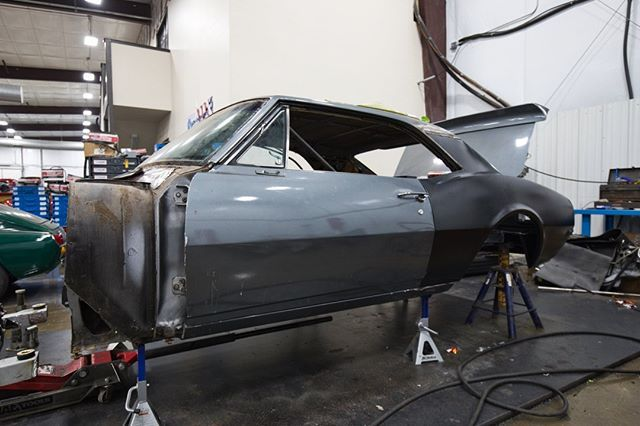 The 68 Camaro Is Starting To Look Like Well A Camaro Again Rear Fenders Trunk Pan Floor Pan And Back Bumper Have Been All Been Fitted And Are In The Pr