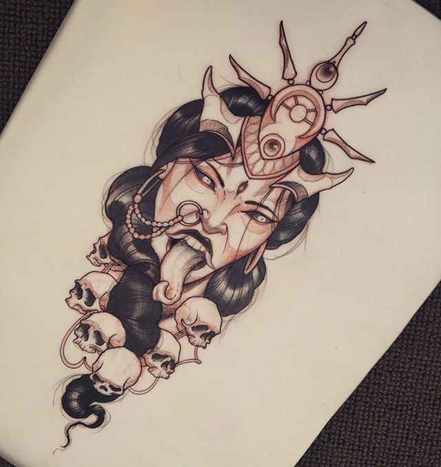 Always wanted to do a Kali tattoo so hit me up if you're interested #tat #tattoo…                                                                                                                                                                                 More