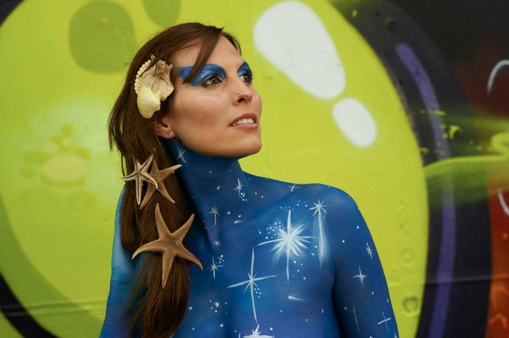"""Bodypainting """"Moon Project"""" 2012"""