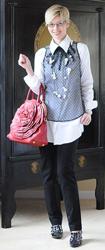 How to wear a tunic shirt: business casual dress code - YLF