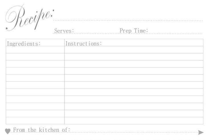 Pretty Unpretentious: Free Printable: Recipe Cards