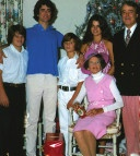 Christmas photo of the Shriver's family (Kennedy's) with Rose Kennedy, December 1975