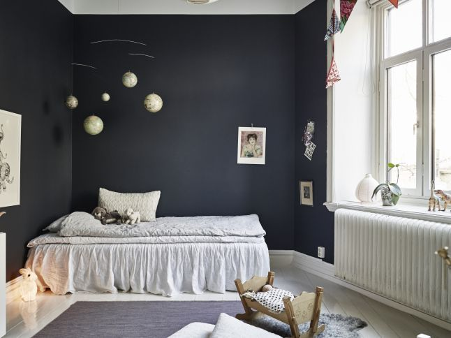 A Charming Dark Kids Room - Petit & Small