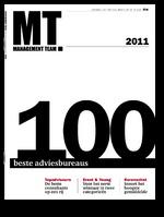 De Management Team 100, beter bekend als de MT 100, is al jaren een begrip in zakelijk Nederland. In de MT 100 bepalen 2.500 managers wie het beste adviesbureau van nederland is, overzichtelijk ingedeeld in acht categorieën: Communicatie & Reclame Accountancy & Belastingadvies Human Resource Management Management & Organisatie ICT Advocatuur & Notariaat Interim Management Business Finance