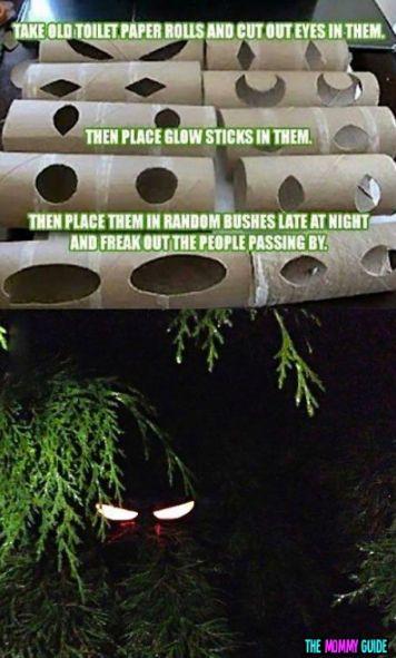 Toilet paper rolls + glow sticks = fun decorations!  @tory_c  @ashclouthier  @gigacza  @clouthierristo