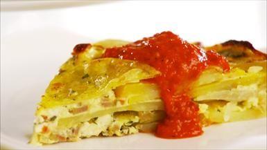 Spanish Potato Omelet  Giada