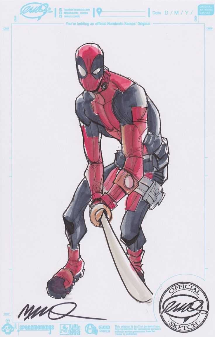 humberto ramos | Humberto Ramos Deadpool Con Sketch (0 Comments)