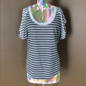 I just discovered this while shopping on Poshmark: Jessica Simpson Striped Tee. Check it out! Price: $22 Size: M, listed by sweetkates85
