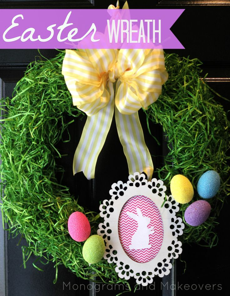 love this easter grass covered wreath