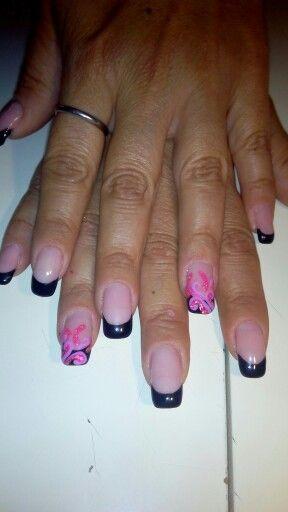Μαυρο γαλλικο#hand painted#❤