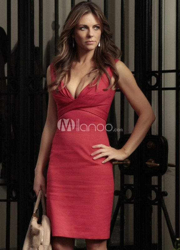 Sexy Sheath Red Short Cocktail Gossip Girl Dress For Women - Milanoo.com