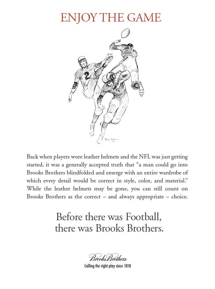Football and Brooks BrothersBrooks Brother