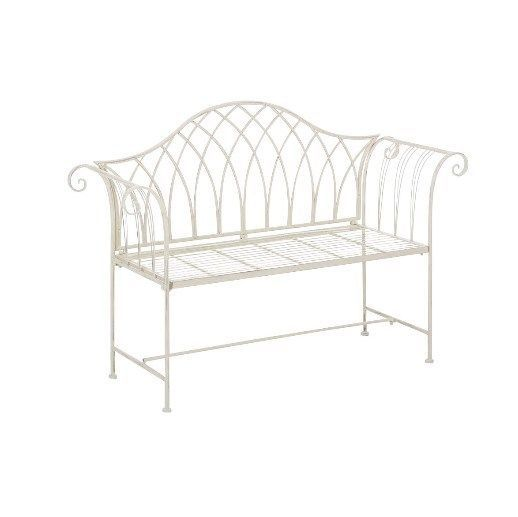 Metal Garden Bench Rustic Classic Porch Entryway Conservatory Furniture 2 Seater