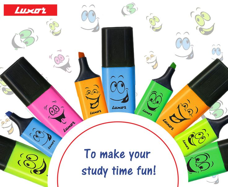 Luxor highlighters to make your study time fun! Buy them here >> bit.ly/1TXf91b