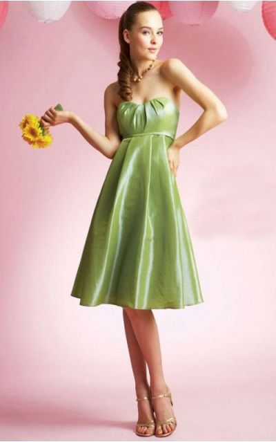 A-line Sweetheart Knee-length Chiffon Empire Party Dresses gt1627