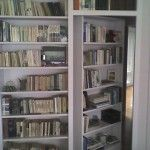 How to make a secret, hidden door bookshelf. Awesome!: Hidden Closet, Hall Closet, Hidden Doors, Houses Ideas, Secret Doors, Bookshelf Doors, Hidden Rooms, Bookca Doors, Bookcases Doors